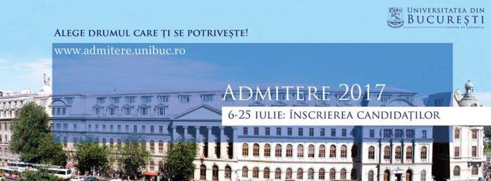 Universitatea din București a anunţat miercuri, 10 mai 2017, numărul de locuri disponibile absolvenților de liceu, licență și masterat, fiinanţate de stat. Instituţia alocă un număr de peste 7.800 de locuri la buget. Repartizarea locurilor În cadrul ultimei ședințe a Consiliului de Administrație, conducerea Universității din București a decis repartizarea locurilor finanțate de la buget pentru admiterea 2017 astfel: • Pentru studiile universitare de licență, Universitatea din București pune la dispoziție un număr de 4.310 de locuri bugetate. • Pentru studii universitare de masterat, Universitatea din București pune la dispoziție un număr de 3.200 de locuri bugetate. Majoritatea locruilor pentru licenţă au fost repartizate Facultății de Litere, cu 473 de locuri, urmată de Facultatea de Limbi și Literaturi Străine, cu un număr de 453 de locuri, și Facultatea de Matematică și Informatică, cu 439 de locuri. În cazul masteratelor, cele mai multe locuri au fost alocate Facultății de Sociologie și Asistență Socială, cu 391 de locuri, urmată de Facultatea de Psihologie și Științele Educației, cu un număr de 322 de locuri, și Facultatea de Litere, cu 296 de locuri. În ceea ce privește programele de studii universitare de doctorat, Universitatea din București pune la dispoziție un număr de 350 de locuri bugetate, iar pentru 175 dintre acestea va oferi burse. Perioada admiterii Admiterea 2017 la Universitatea din București se desfășoară în perioada 6 – 25 iulie, pentru studiile universitare de licență și masterat, iar în perioada 1-20 septembrie pentru studiile universitare de doctorat. Universitatea din București va reveni cu informații ulterioare referitoare la admiterea 2017, care să vină în sprijinul tuturor celor interesați. Contact Numărul de locuri bugetate puse la dispoziție de fiecare facultate a Universității din București pentru studii universitare de licență și masterat poate fi consultat aici. Mai multe informații despre admiterea la programele de licență și maste
