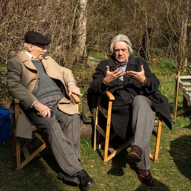Victor Rebengiuc si Marcel Iures platouri de filmare Octav crediti foto Adi Marineci