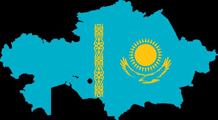 Kazakhstan-Flag-Map